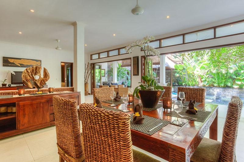From dining room through bi fold doors